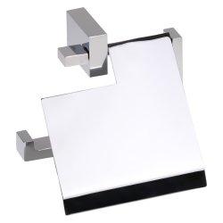Accesorii baie Suport hartie igienica cu aparatoare Bemeta Gamma, argintiu