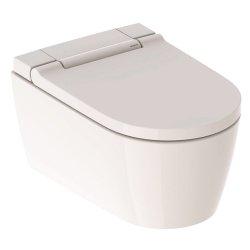 Seturi vase WC Set vas WC suspendat Geberit AquaClean Sela, capac inchidere/deschidere lenta si functie bideu electric, finisaj Alb