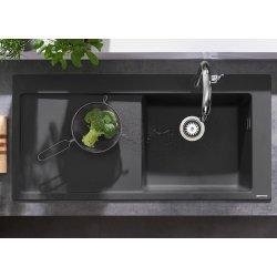 Chiuvete bucatarie Chiuveta bucatarie Hansgrohe S514-F450 SilicaTec 450, 51x105x19cm, picurator stanga, graphite black