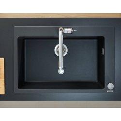 Chiuveta bucatarie Hansgrohe S510-F660 SilicaTec 660, cu 1 cuva, 51x77x19cm, graphite black