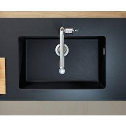 Chiuvete bucatarie Chiuveta bucatarie Hansgrohe S510-U660 SilicaTec 660, cu 1 cuva, 45x71x19cm, montare sub blat, graphite black