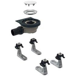 Accesorii montaj Set instalare pentru cadite dus Geberit Setaplano cu 4 picioare, iesire laterala diametru 50 mm