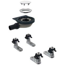 Accesorii montaj Set instalare pentru cadite dus Geberit Setaplano cu 6 picioare, iesire laterala diametru 30 mm