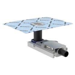 Sifon de pardoseala Geberit FloorDrain cu gratar inox, pentru pardoseli 65-90 mm