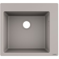 Chiuvete compozit Chiuveta bucatarie Hansgrohe S510-F450 SilicaTec 450, cu 1 cuva, 51x56x19cm, concrete grey