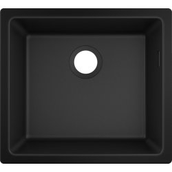 Chiuvete compozit Chiuveta bucatarie Hansgrohe S510-U450 SilicaTec 450, cu 1 cuva, 45x50x19cm, montare sub blat, graphite black