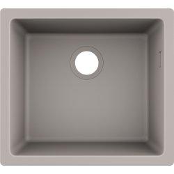 Chiuvete compozit Chiuveta bucatarie Hansgrohe S510-U450 SilicaTec 450, cu 1 cuva, 45x50x19cm, montare sub blat, concrete grey