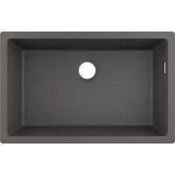 Chiuvete compozit Chiuveta bucatarie Hansgrohe S510-U660 SilicaTec 660, cu 1 cuva, 45x71x19cm, montare sub blat, stone grey