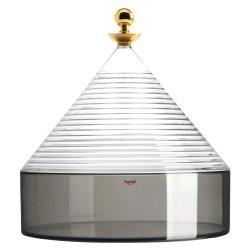 Bol cu capac Kartell Trullo design Fabio Novembre, d25cm, h27cm, transparent-gri