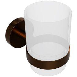 Accesorii baie Pahar sticla Bemeta Amber cu suport pe perete