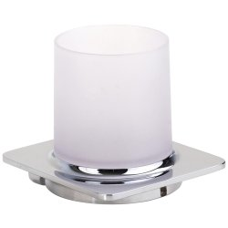 Default Category SensoDays Pahar sticla cu suport de perete Bemeta Organic, argintiu
