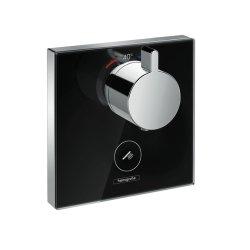 Baterii dus Baterie dus termostatata Hansgrohe ShowerSelect negru-crom, cu montaj incastrat, necesita corp ingropat