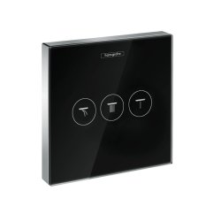 Default Category SensoDays Divertor Hansgrohe Shower Select Glass pentru 3 consumatori, necesita corp ingropat, negru-crom
