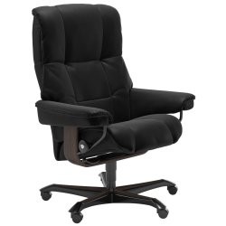 Default Category SensoDays Scaun birou Stressless Mayfair Office, cadru wenge, tapiterie piele Batik Black