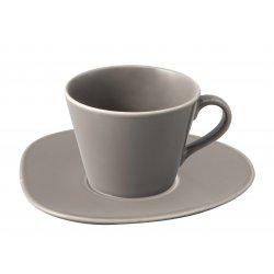 Cesti & Cani Ceasca si farfuriuta pentru cafea Villeroy & Boch Organic Taupe 0.27 litri