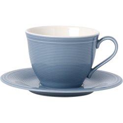 Servire & Pregatire masa Ceasca si farfuriuta cafea like. By Villeroy & Boch Color Loop Horizon 0.25 litri