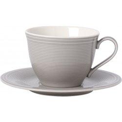 Servire & Pregatire masa Ceasca si farfuriuta cafea like. By Villeroy & Boch Color Loop Stone 0.25 litri