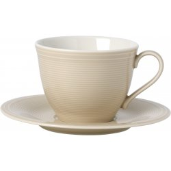 Ceasca si farfuriuta cafea like. By Villeroy & Boch Color Loop Sand 0.25 litri