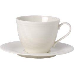 Ceasca si farfuriuta cafea like. By Villeroy & Boch Color Loop Natural 0.25 litri