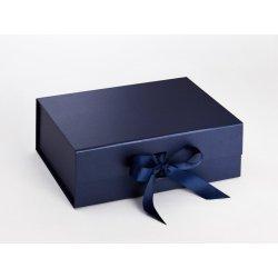 Cadouri Ocazii Speciale Cutie cadou Folda A4 Deep, inchidere magnetica si fundita, Navy Blue