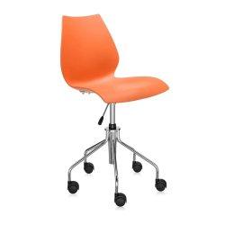 Scaune birou Scaun birou Kartell Maui, design Vico Magistretti, portocaliu