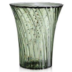 Default Category SensoDays Masuta Kartell Sparkle design Tokujin Yoshioka, diametru 38cm, verde salvie transparent
