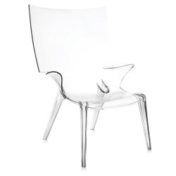 Scaune Scaun Kartell Uncle Jim design Philippe Starck, transparent