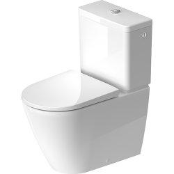 Default Category SensoDays Vas wc Duravit D-Neo Rimless WonderGliss 37x65cm, back-to-wall, pentru rezervor asezat