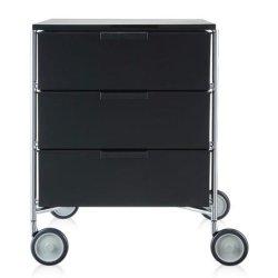 Default Category SensoDays Comoda cu rotile Kartell Mobil Mat, design Antonio Citterio & Oliver Low, 49xc47.5cm, h63cm, negru mat