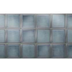 Placari & Pardoseli Faianta Diesel living Glass Blocks 20x20cm, 6.5mm, Azure