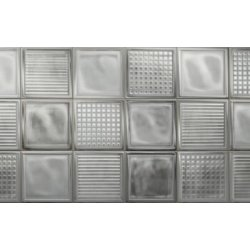 Placari & Pardoseli Faianta Diesel living Glass Blocks 20x20cm, 6.5mm, White