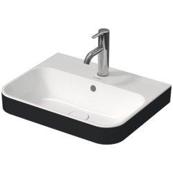 Lavoare baie Lavoar Duravit Happy D.2 50x40cm, montare pe mobilier, alb-Antracit Mat