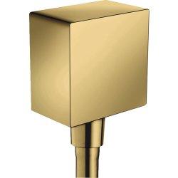Pare si furtunuri de dus Accesoriu Hansgrohe FixFit Square, gold optic lustruit