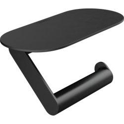 Accesorii baie Suport hartie igienica cu raft Hansgrohe WallStoris, negru mat