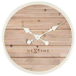 Decoratiuni  Ceas de perete NeXtime Plank 50cm, white