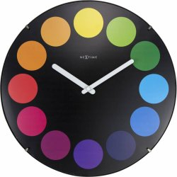 Default Category SensoDays Ceas de perete NeXtime Dots Dome 35cm, negru