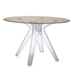 Mobilier Masa Kartell Sir Gio design Philippe Starck, diametru 120cm, bronz- transparent