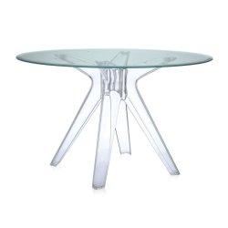 Mobilier Masa Kartell Sir Gio design Philippe Starck, diametru 120cm, verde - transparent