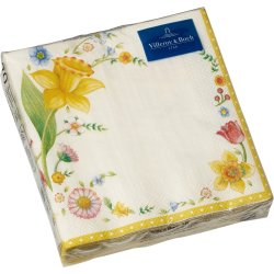 Cadouri de Paste Set servetele hartie Villeroy & Boch Easter 2019 Cocktail Napkin Easterflowers 25x25cm