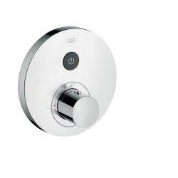 Baterii de baie Baterie dus termostatata Hansgrohe Axor Uno Select pentru 1 sau 3 consumatori, montaj incastrat, necesita corp ingropat