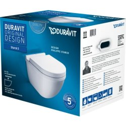 Default Category SensoDays Set vas WC suspendat Duravit Starck 3 si capac inchidere lenta