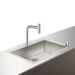Seturi Chiuvete & Baterii Set Hansgrohe Sink Combi C71-F660-08, chiuveta inox 760mm + baterie din doua elemente cu dus extractibil, crom
