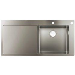 Chiuvete bucatarie Chiuveta bucatarie Hansgrohe S717-F450, 1045x510mmmm, picurator stanga, orificiu buton control, inox
