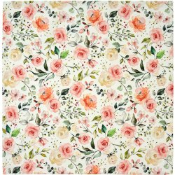 Textile decorative de masa Napron Sander Prints Roseanne 130x170cm, 25 dusty rose