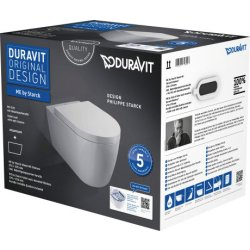 Default Category SensoDays Set vas WC suspendat Duravit ME by Starck Rimless 57x37cm cu capac inchidere lenta