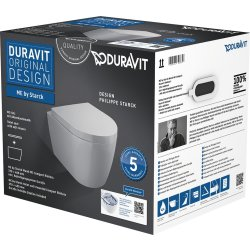 Default Category SensoDays Set vas WC suspendat Duravit ME by Starck Compact Rimless cu capac inchidere lenta
