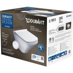 Seturi vase WC Set vas WC suspendat Duravit Durastyle Rimless 54cm, finisaj WonderGliss si capac inchidere lenta