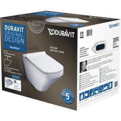 Default Category SensoDays Set vas WC suspendat Duravit Durastyle Rimless cu capac inchidere lenta