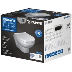 Default Category SensoDays Set vas WC suspendat Duravit DuraStyle Basic Rimless Compact si capac cu inchidere lenta