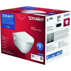 Default Category SensoDays Set vas wc suspendat Duravit D-Neo Rimless si capac cu inchidere lenta